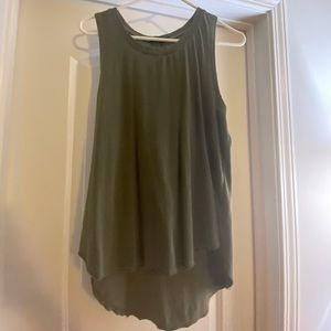 Army green flowing style tank top